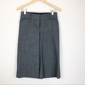 Express Gray Wide Leg Cropped Editor Pant